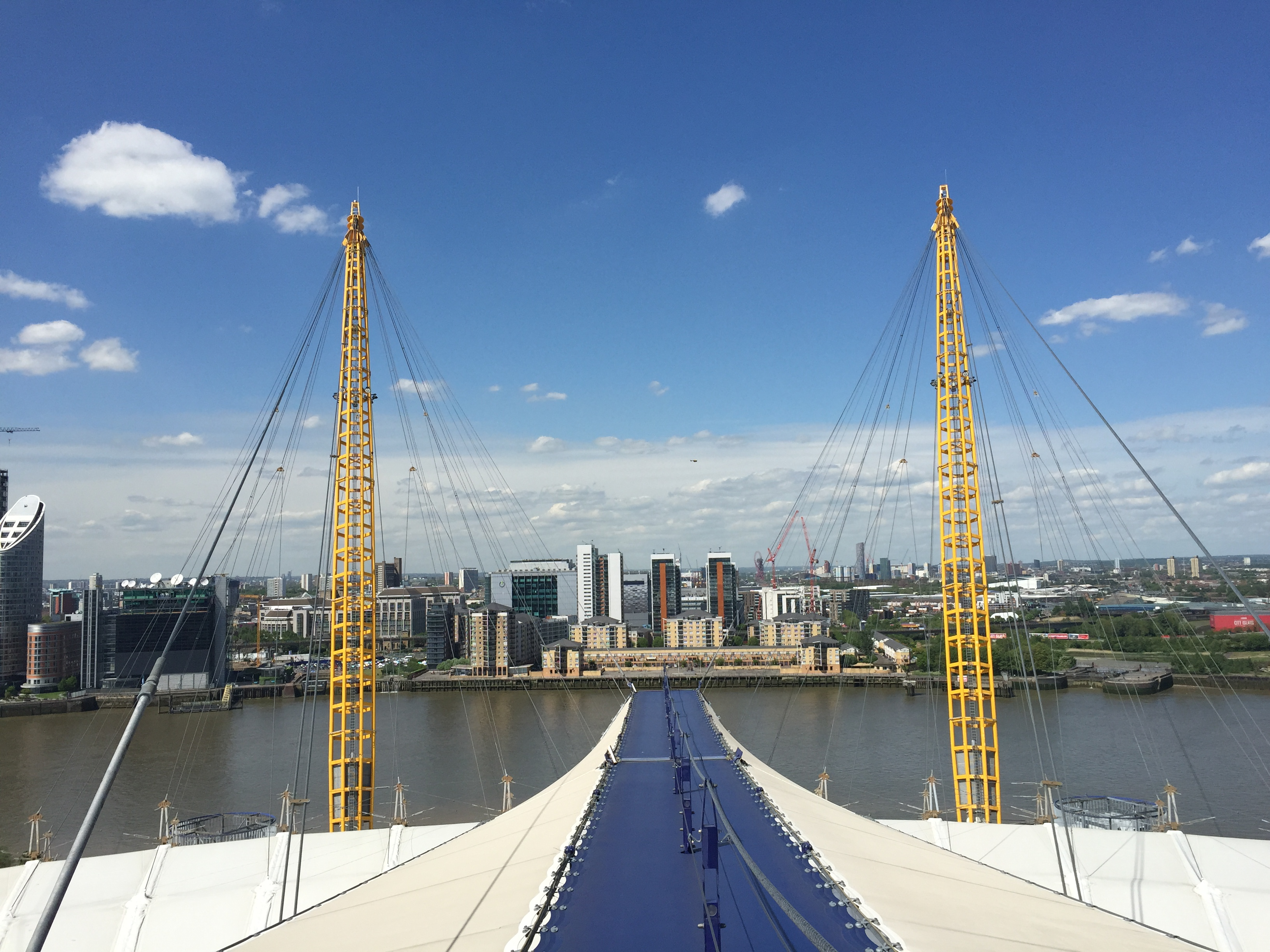 One Path Super >> Climbing the O2 roof