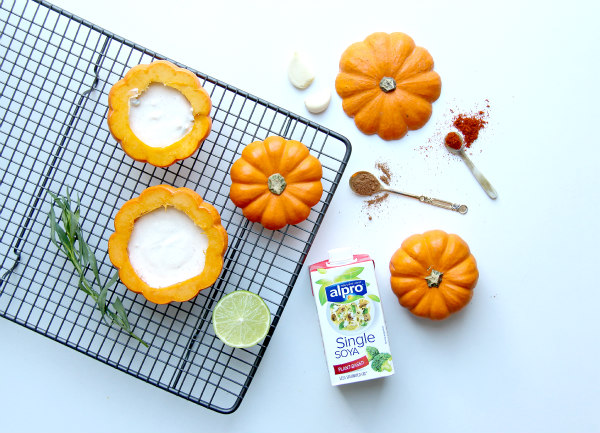 Cooking with alpro cuisine baked pumpkin and cream for Alpro soya cuisine light