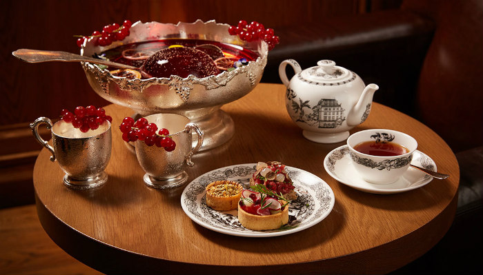 The London Edition Christmas punch afternoon tea