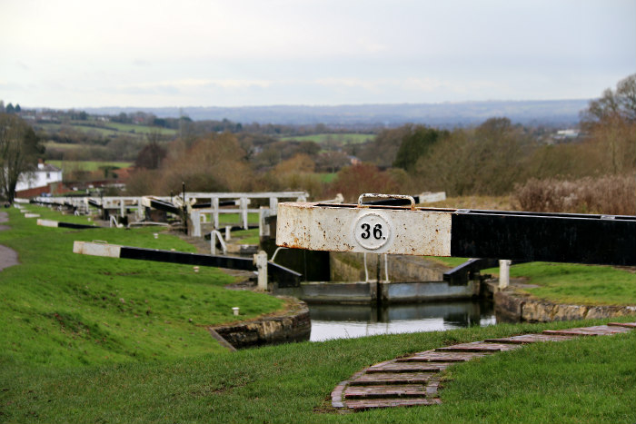 Caen Hill Locks Devizes Wiltshire