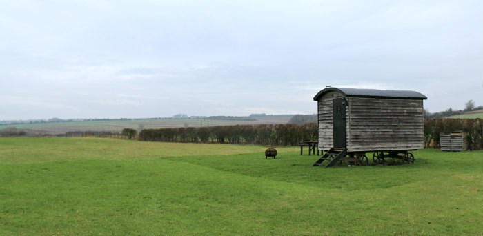 Wiltshire Marshwood Farm B&B Dinton shepherd's hut