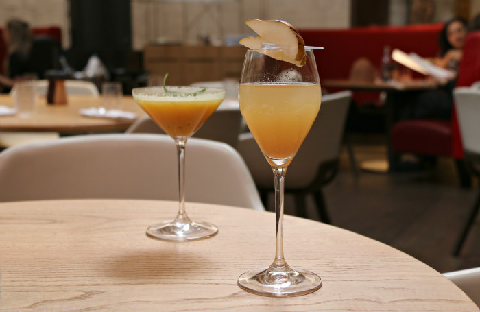 Eneko One Aldwych Basque brunch Golden Mary Quince Bellini cocktail