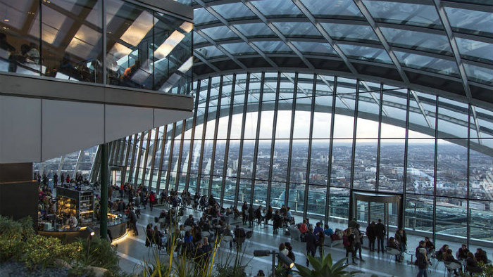 Valentine's Day London the sky garden