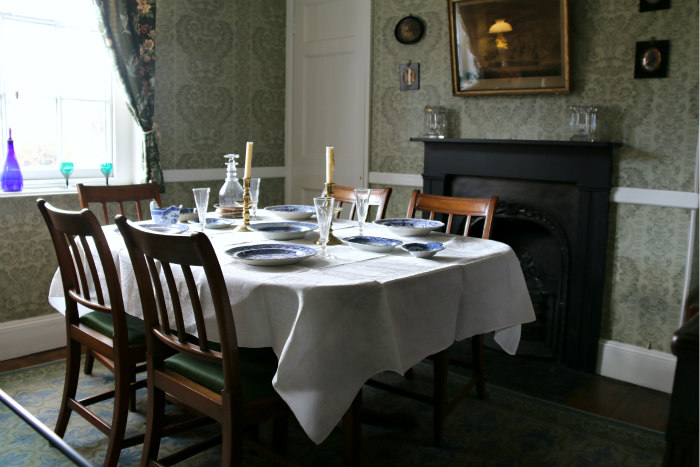 Portsmouth Charles Dickens Birthplace museum dining room