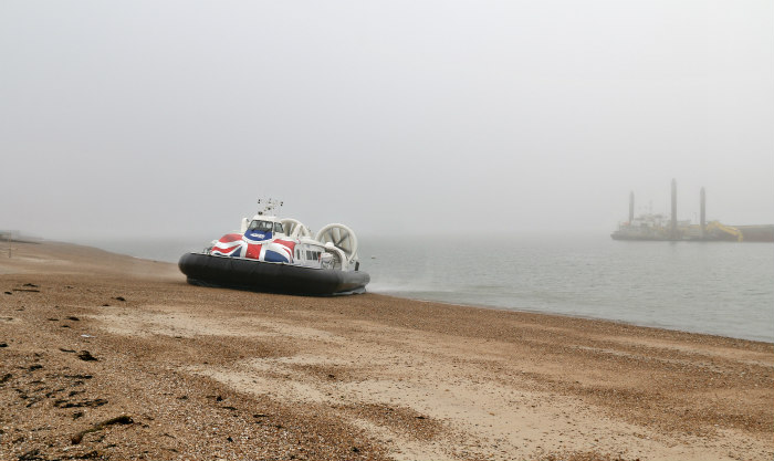 Southsea to Portsmouth seaside hovercraft