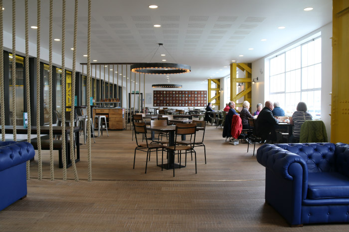 Portsmouth Historic dockyard Boatbuilding and Heritage Skills Centre restaurant