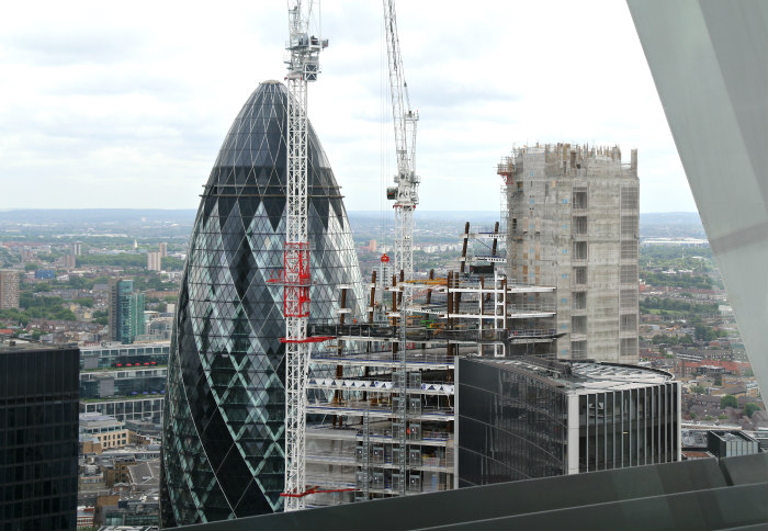 London sky garden view gherkin