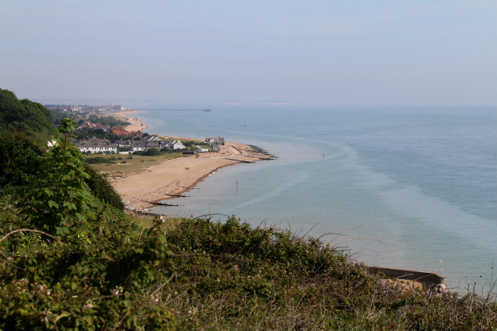 st margaret's bay kent walking along the cliff kingsdown