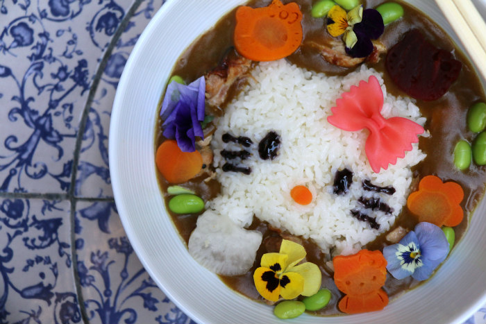 London Tombo Hello Kitty cafe curry