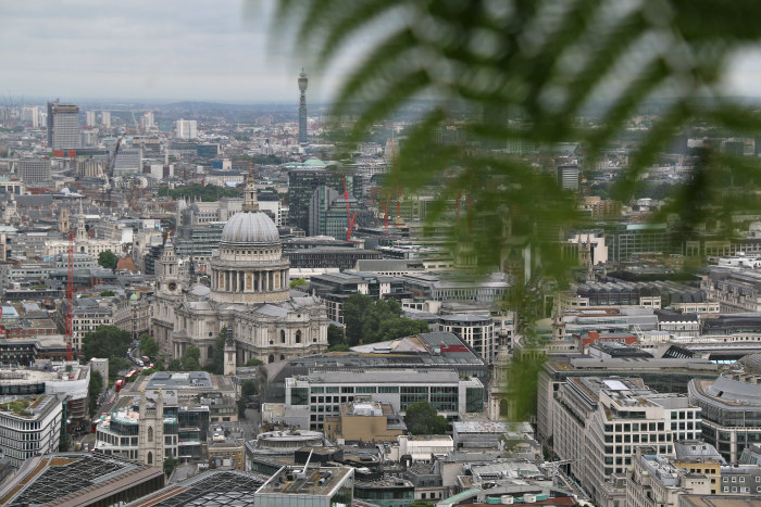 sky garden view london saint paul