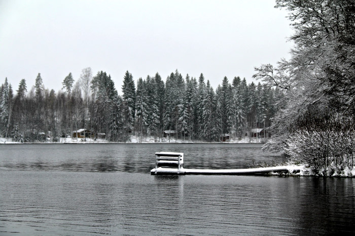 Finland Winter Wonderland snow winter Vesilahti lake
