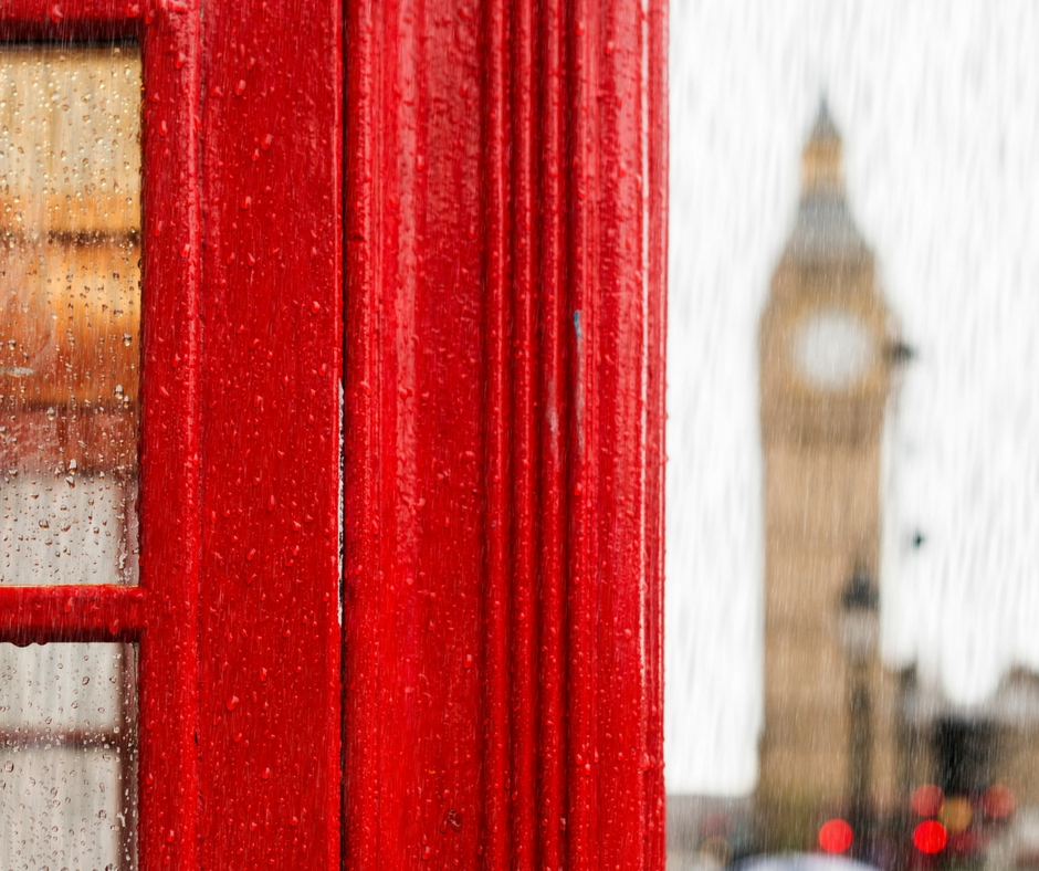 rainy London big ben