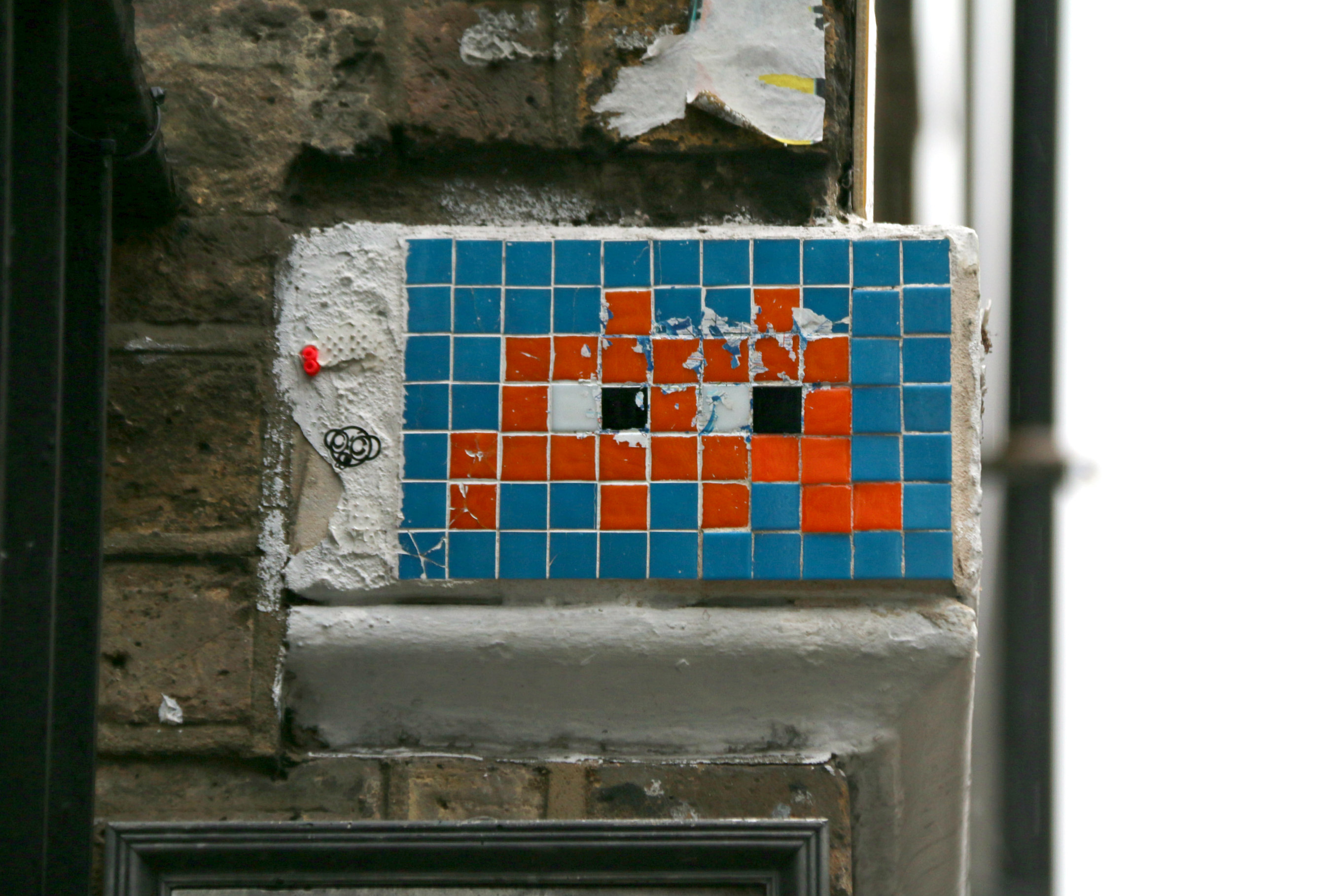 London Shoreditch street art Brick Lane space invader