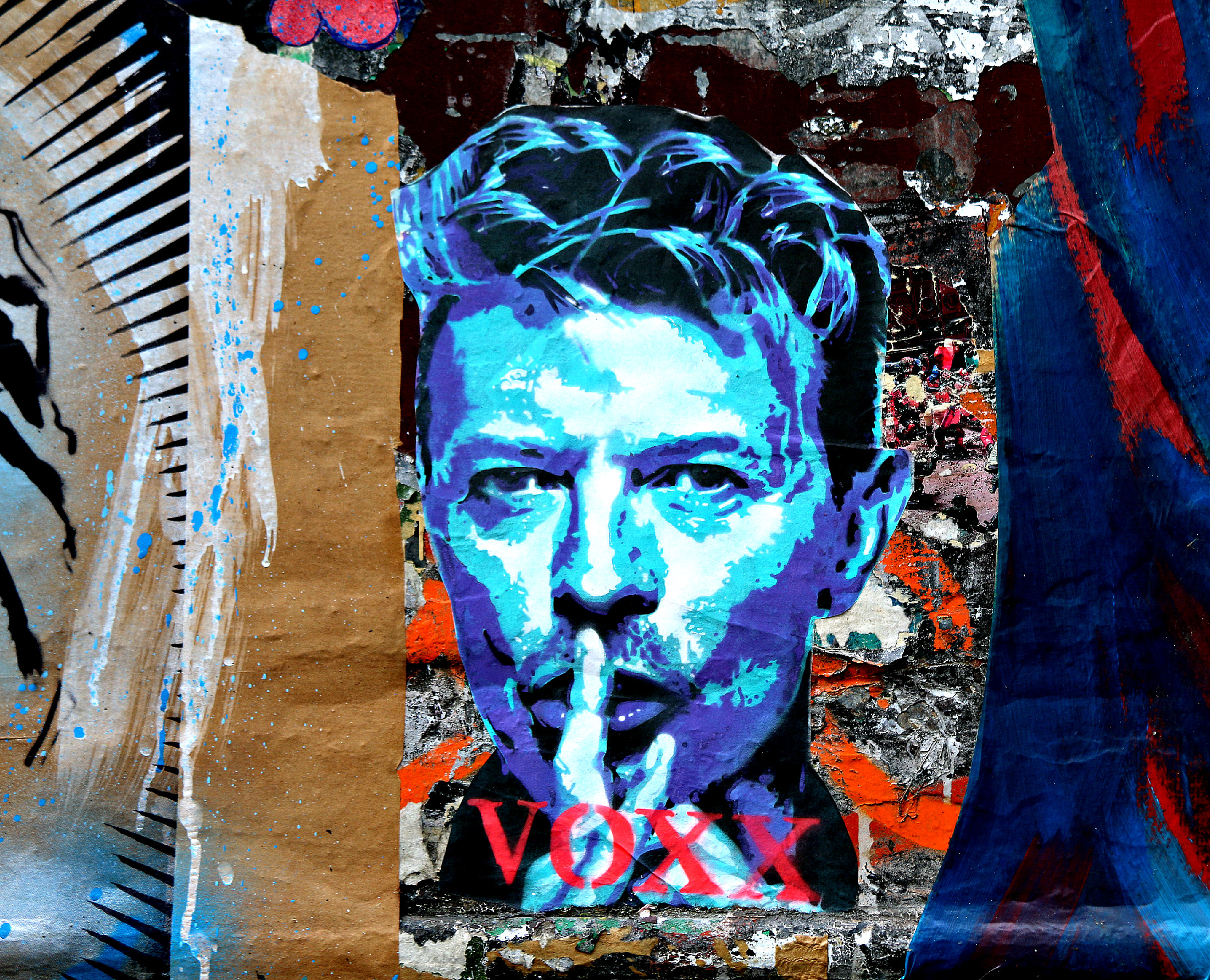 where to find art in shoreditch fournier street David Bowie Voxx Romana
