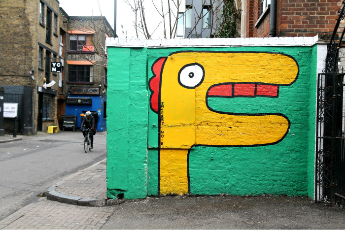 London Shoreditch street art rivington street Cargo thierry noir