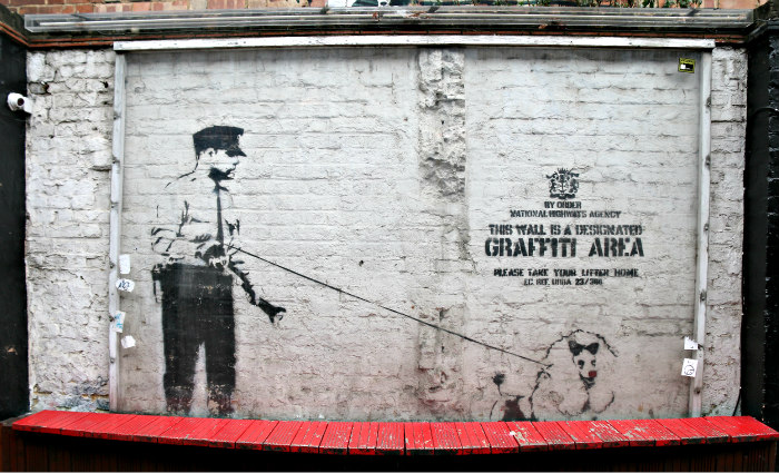 London Shoreditch street art rivington street Cargo Banksy