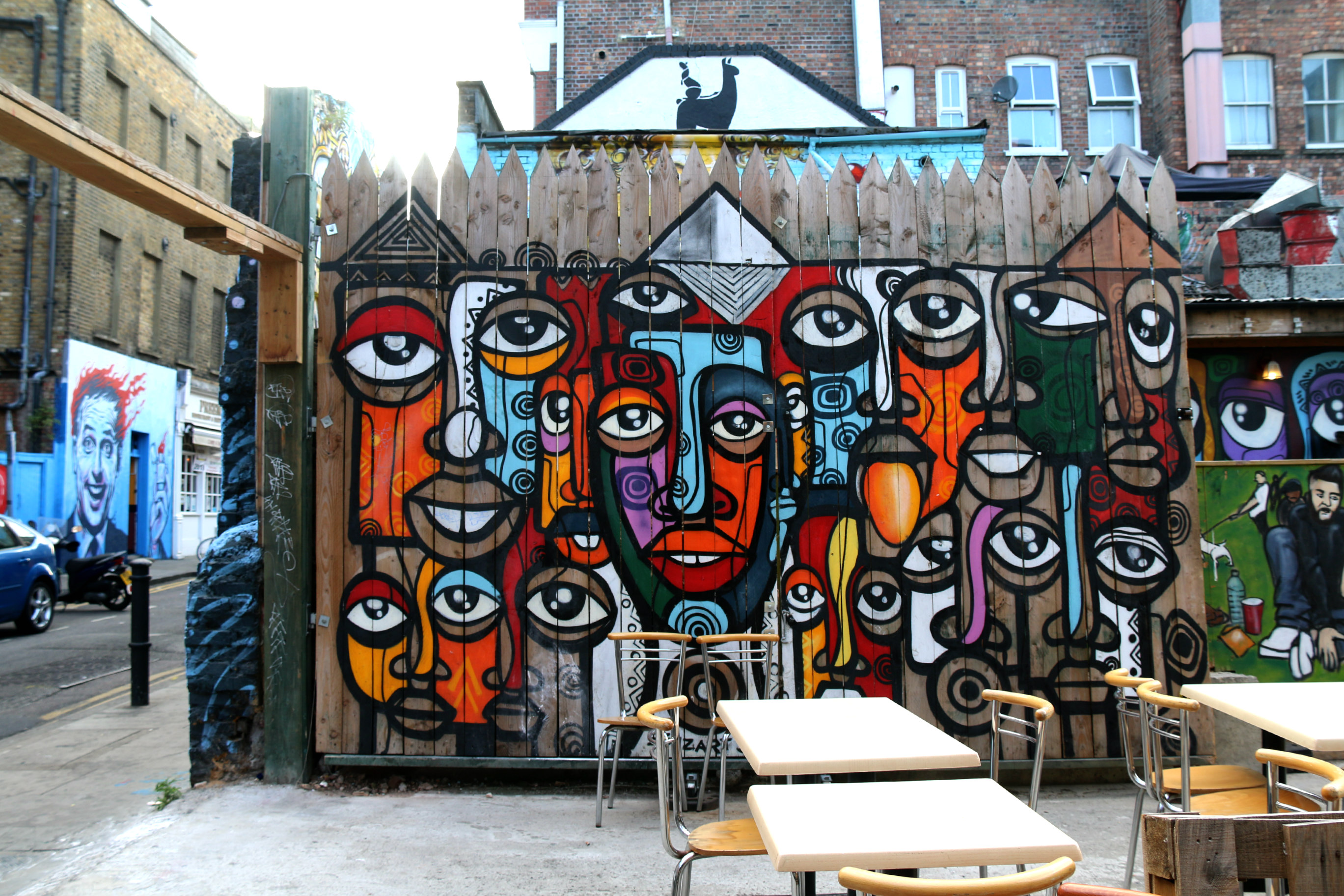 where to find art in shoreditch Hanbury Street Senzart 911