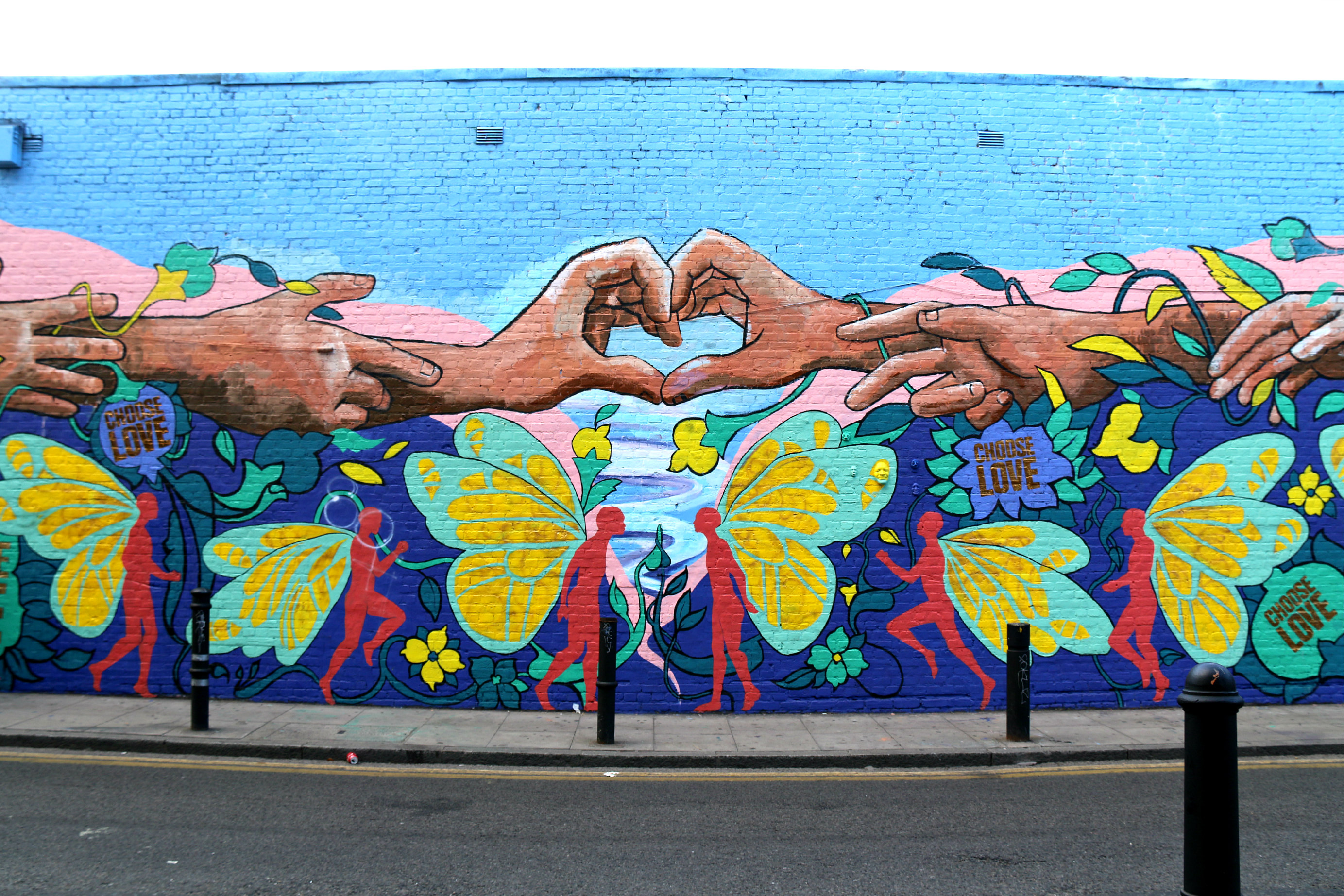 where to find art in shoreditch Hanbury Street Choose Love mural Majid Adin