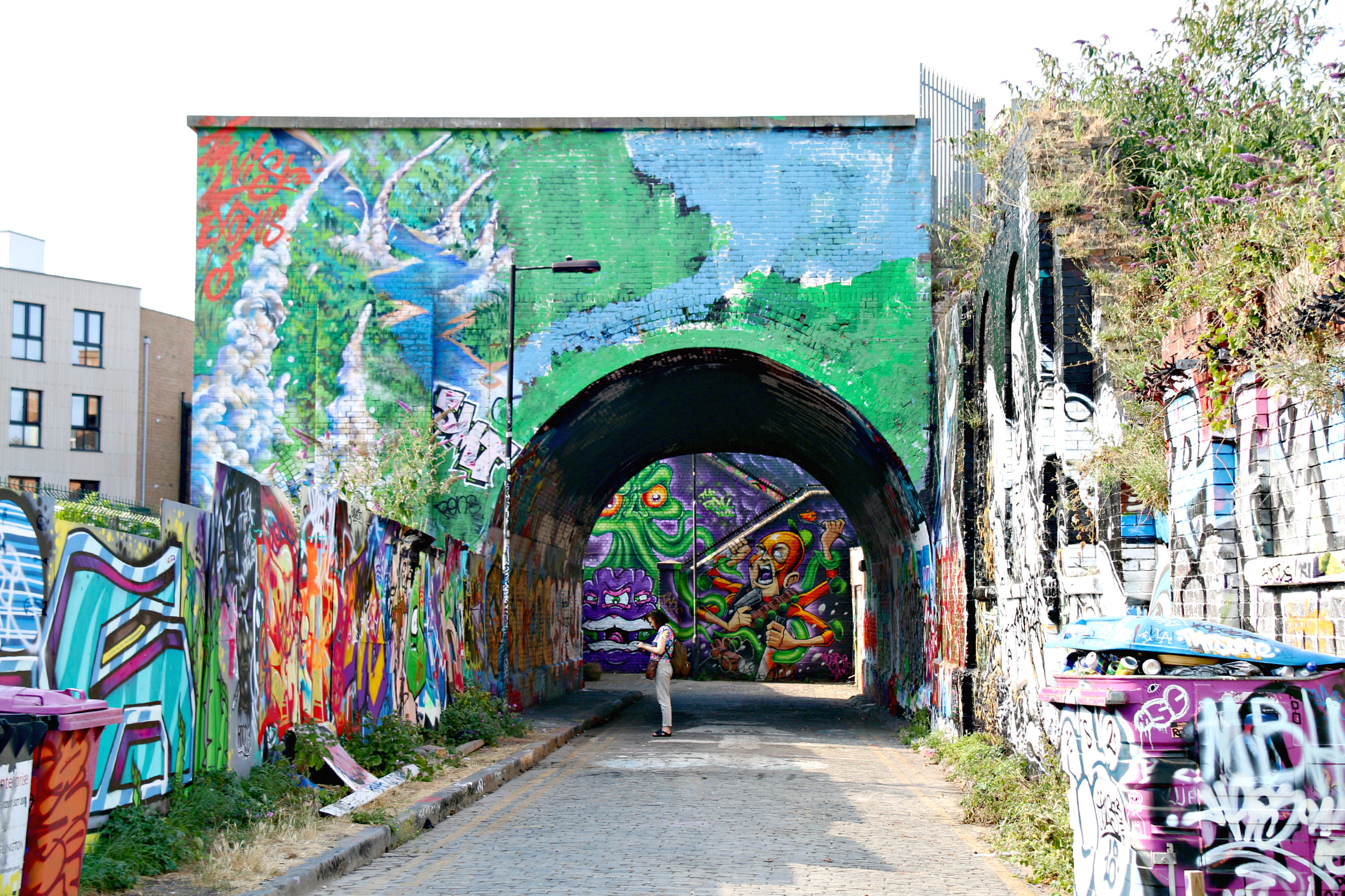where to find art in shoreditch The Nomadic Community Garden and Fleet Street Hill