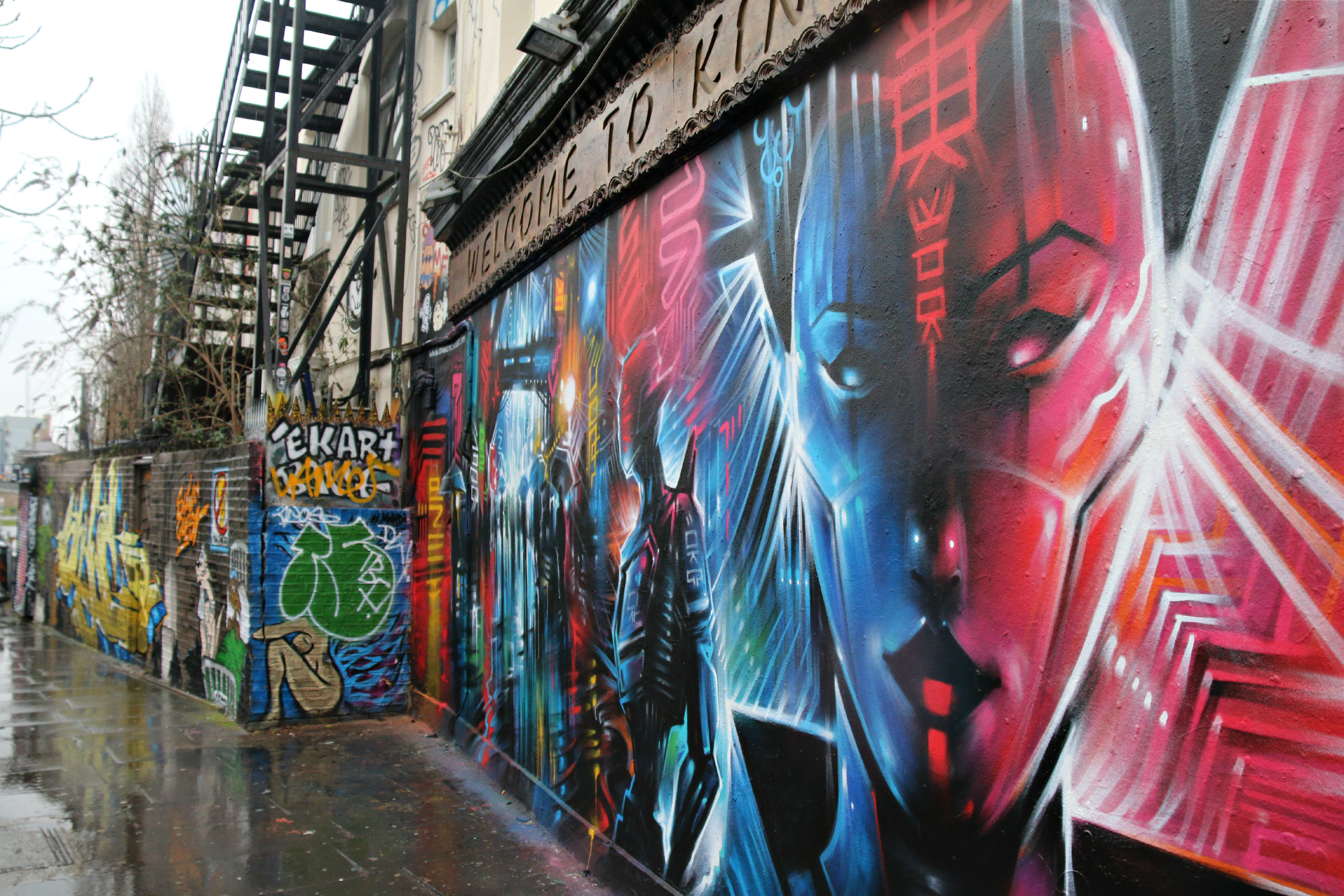 London Shoreditch street art Dan Kitchener geisha