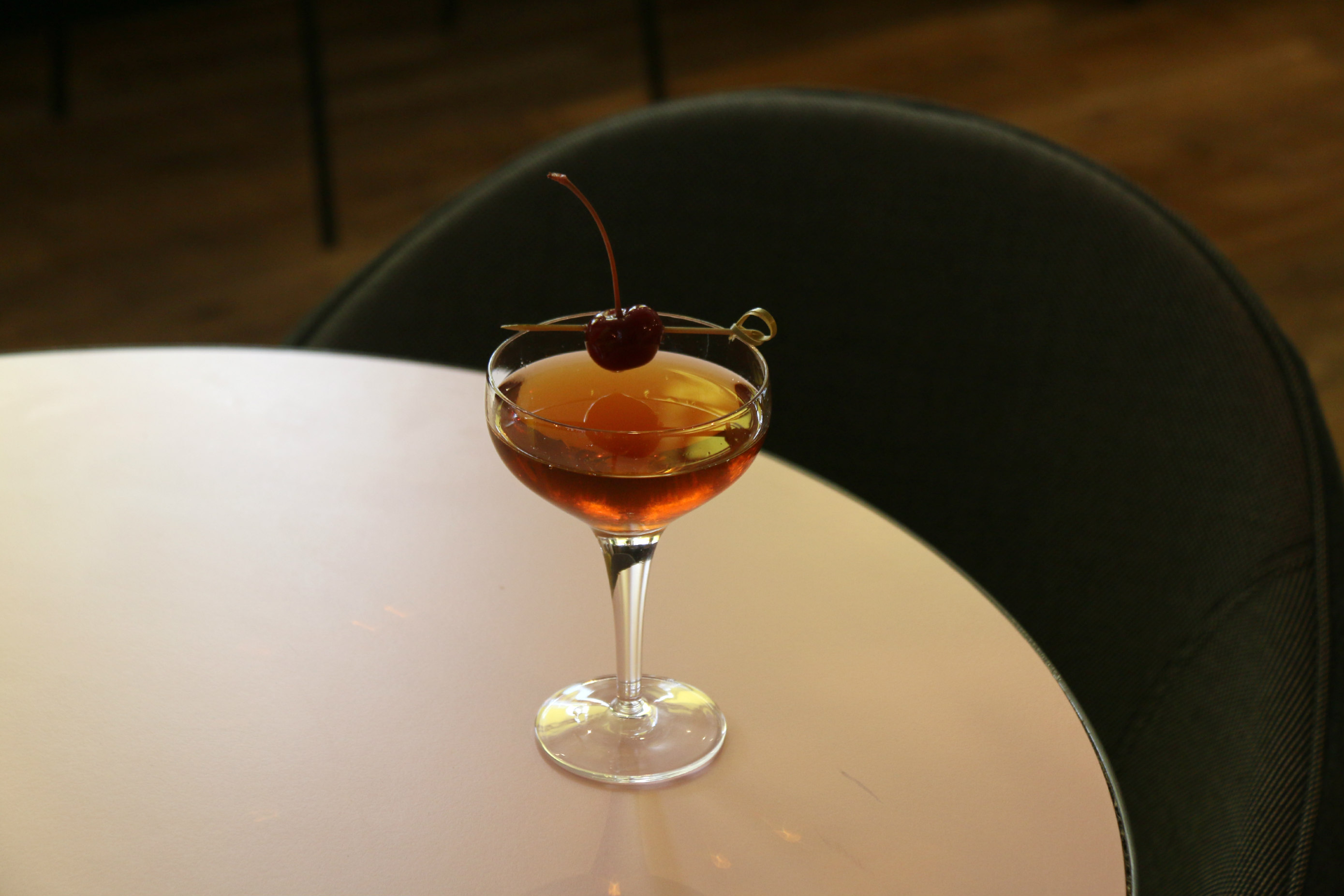 London Pomona restaurant Notting Hill Camomile Manhattan cocktail