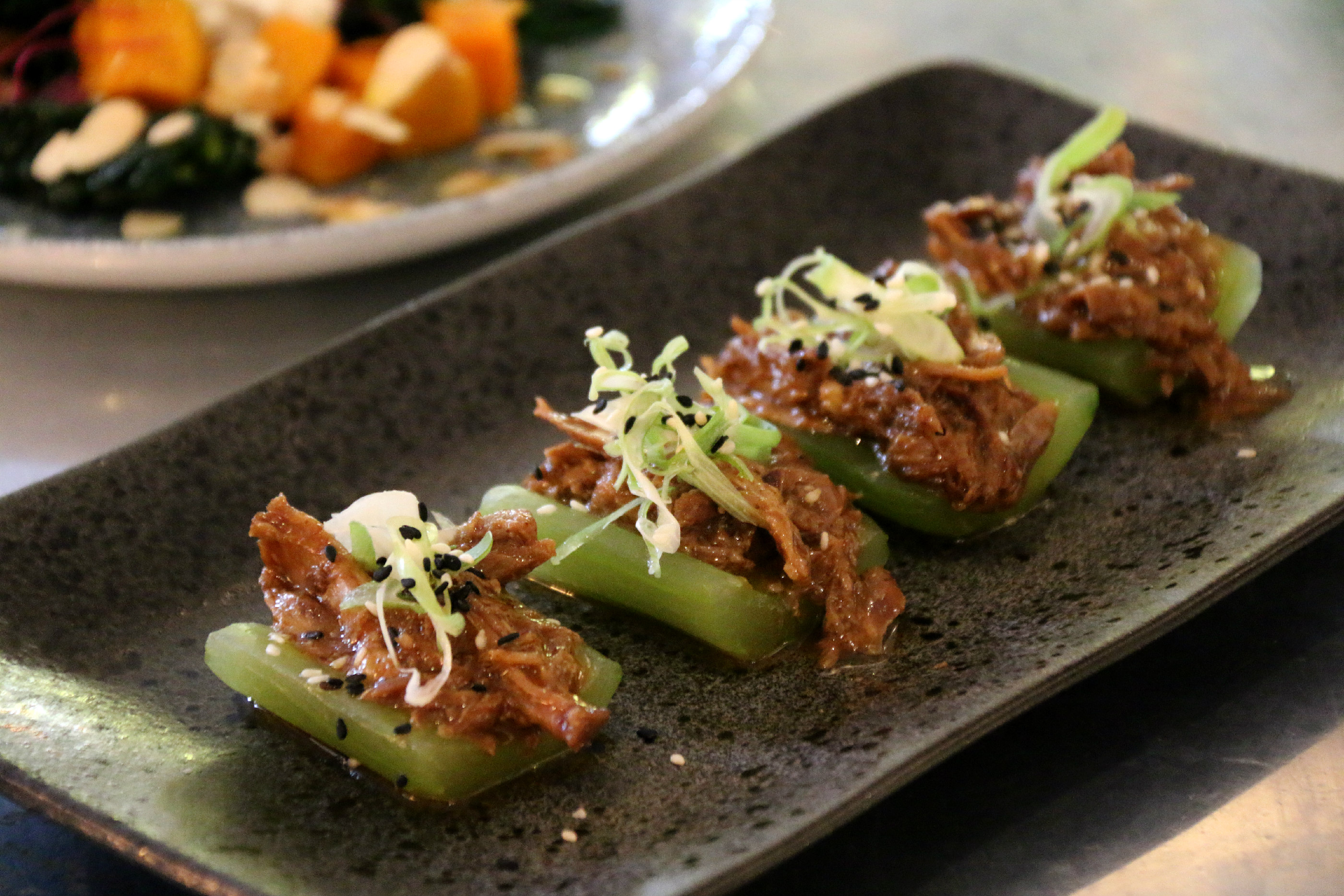 London Pomona restaurant Notting Hill crisp duck cucumber spring onion pum sauce sesame seeds