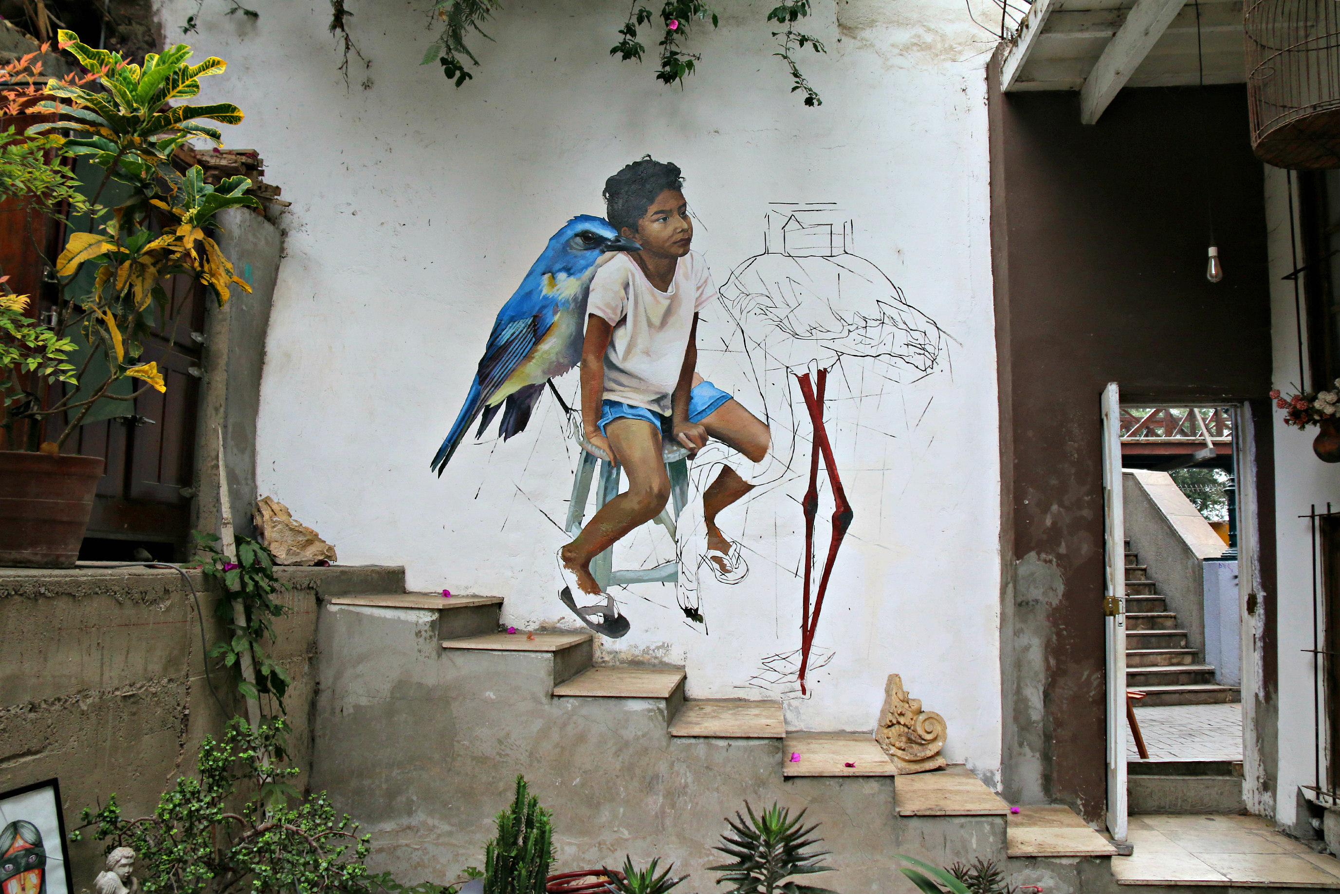 where to to find street art in Barranco, Lima near the bridge of sighs Jade Rivera world shop art gallery 3