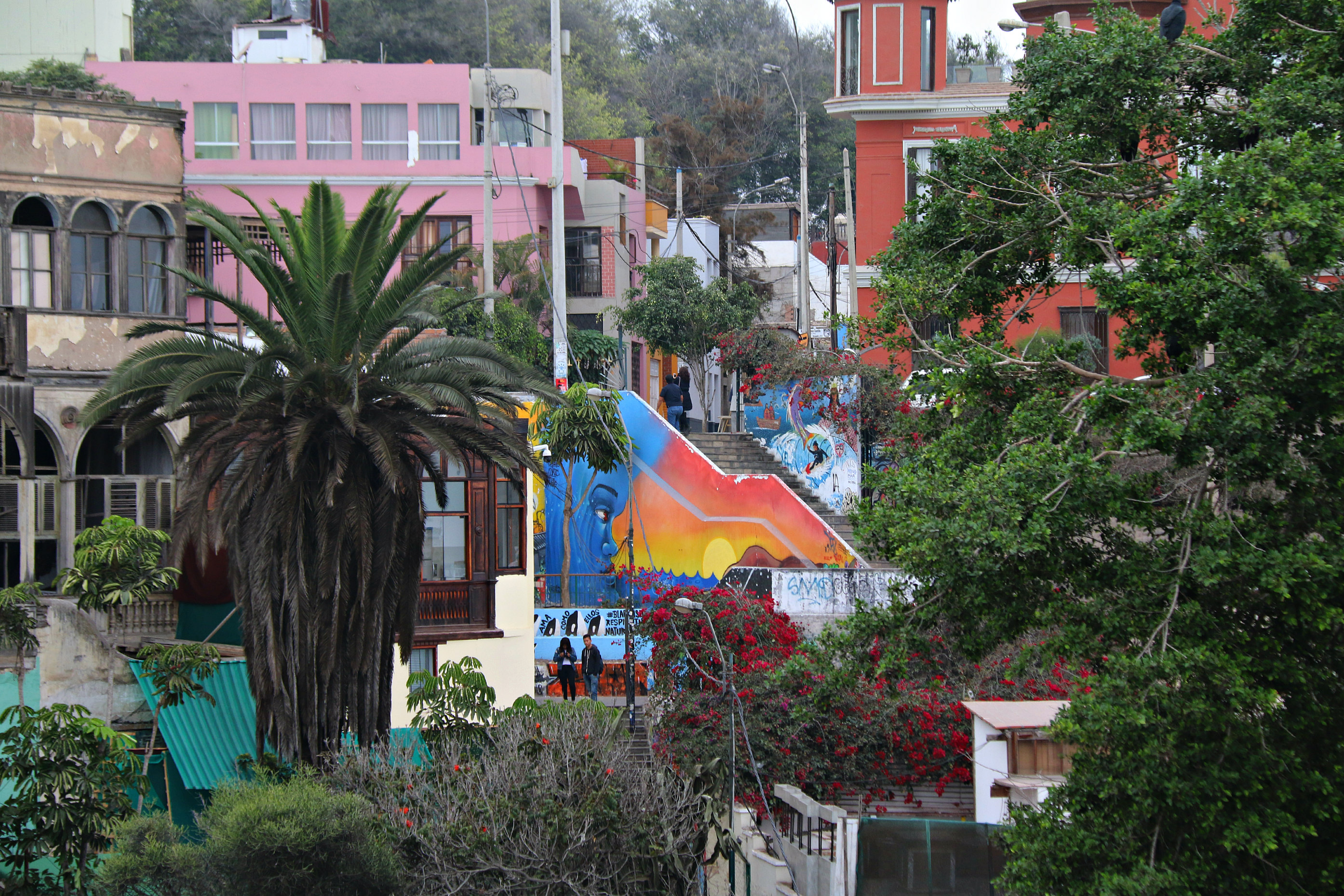 where to to find street art in Barranco, LimaMirador Catalina Recavarren