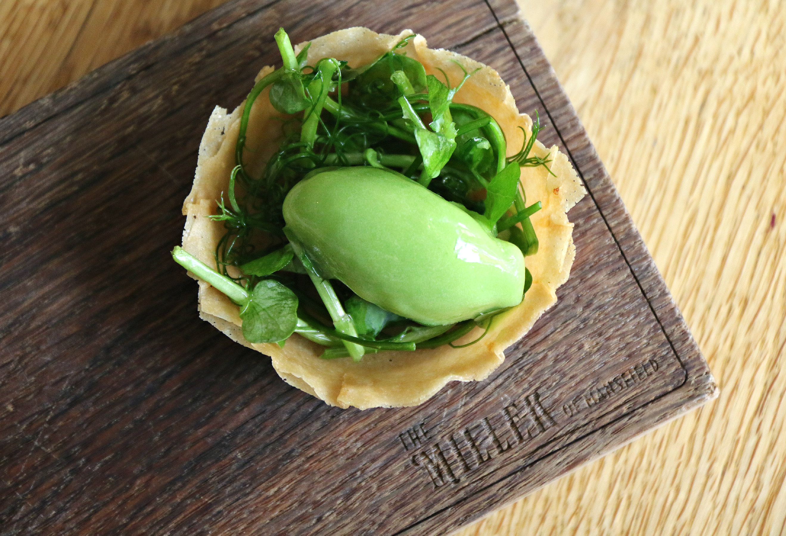 The Miller of Mansfield pub, Goring past making lesson pea shoots ice cream