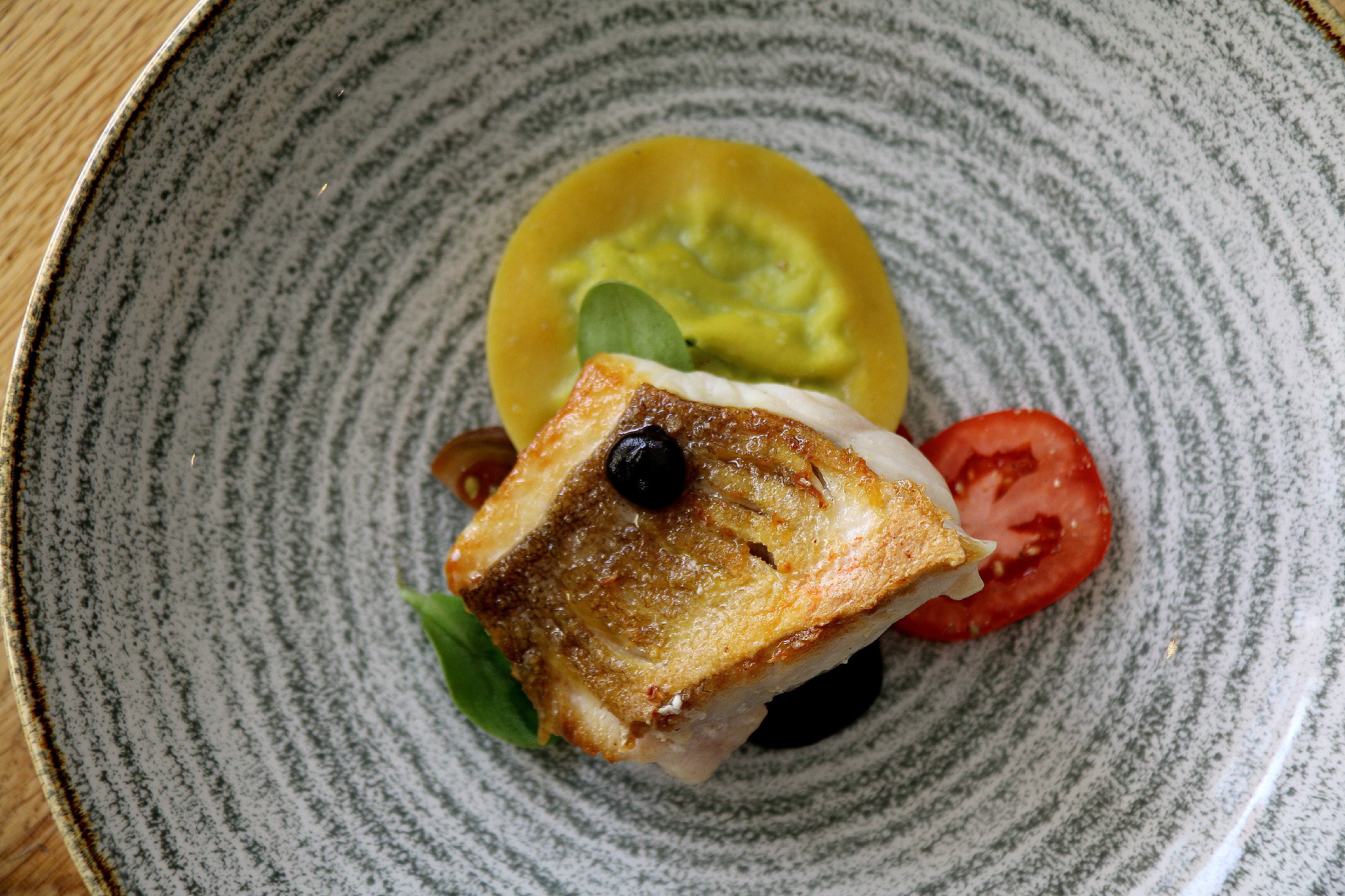 The Miller of Mansfield grilled cornish gurnard
