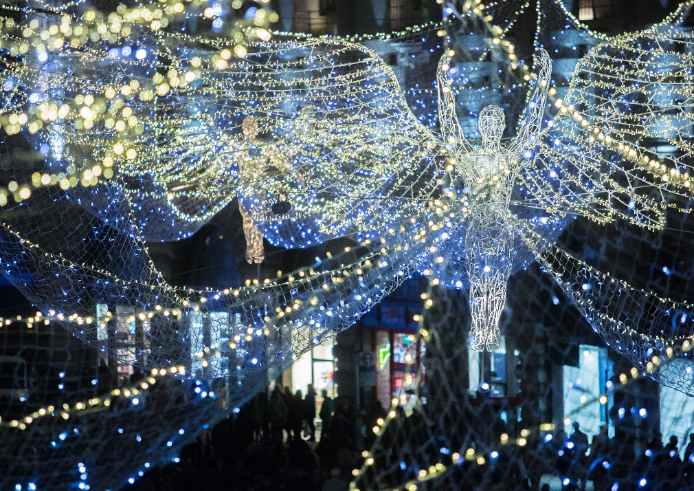 spirit of Christmas angels on Regent Street (Christmas lights)
