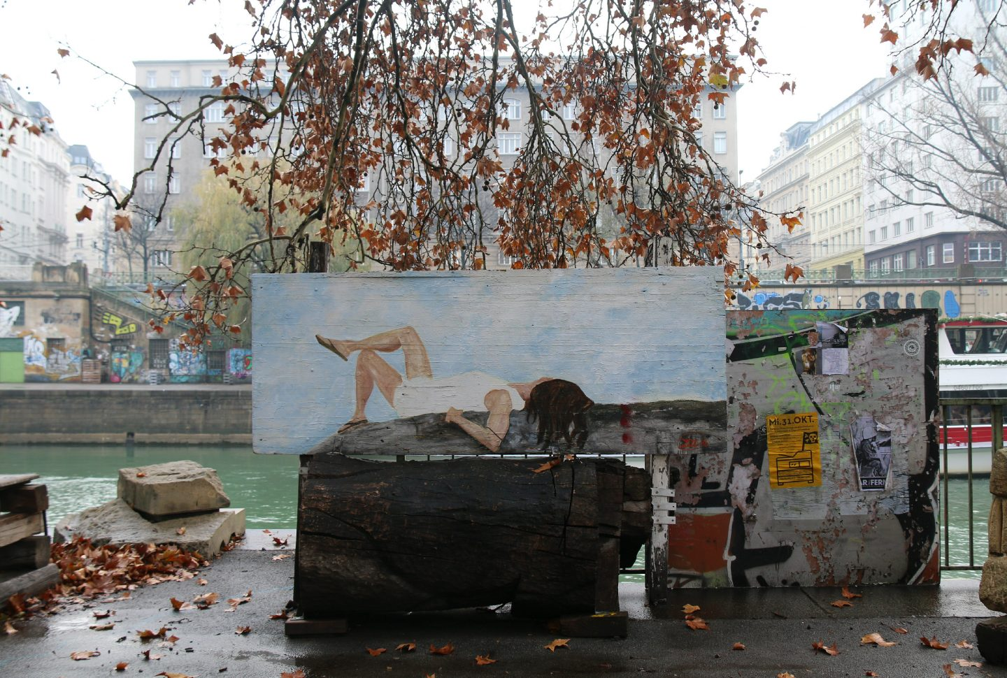 Vienna street art by the canal 6