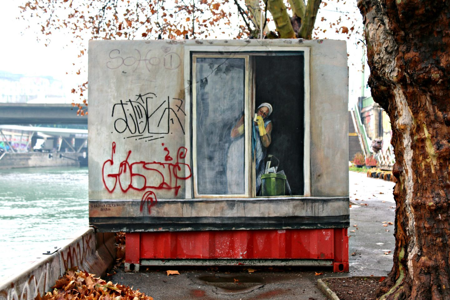 Vienna street art by the canal 8