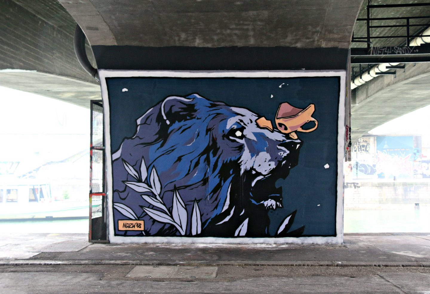 Vienna street art by the canal 12