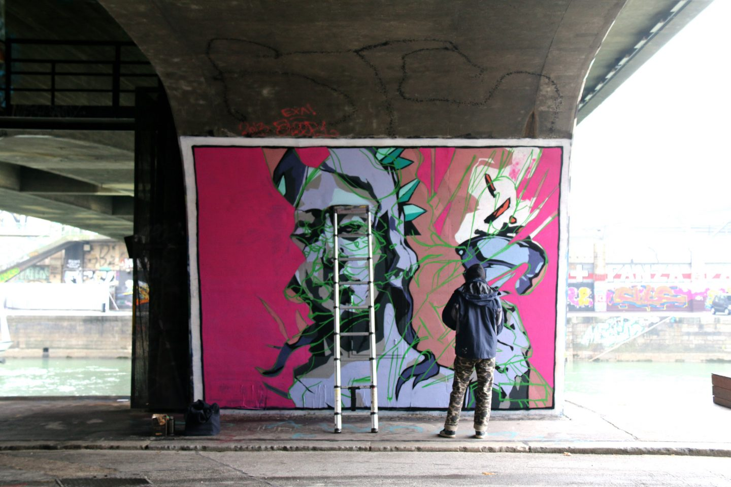 Vienna street art by the canal 13