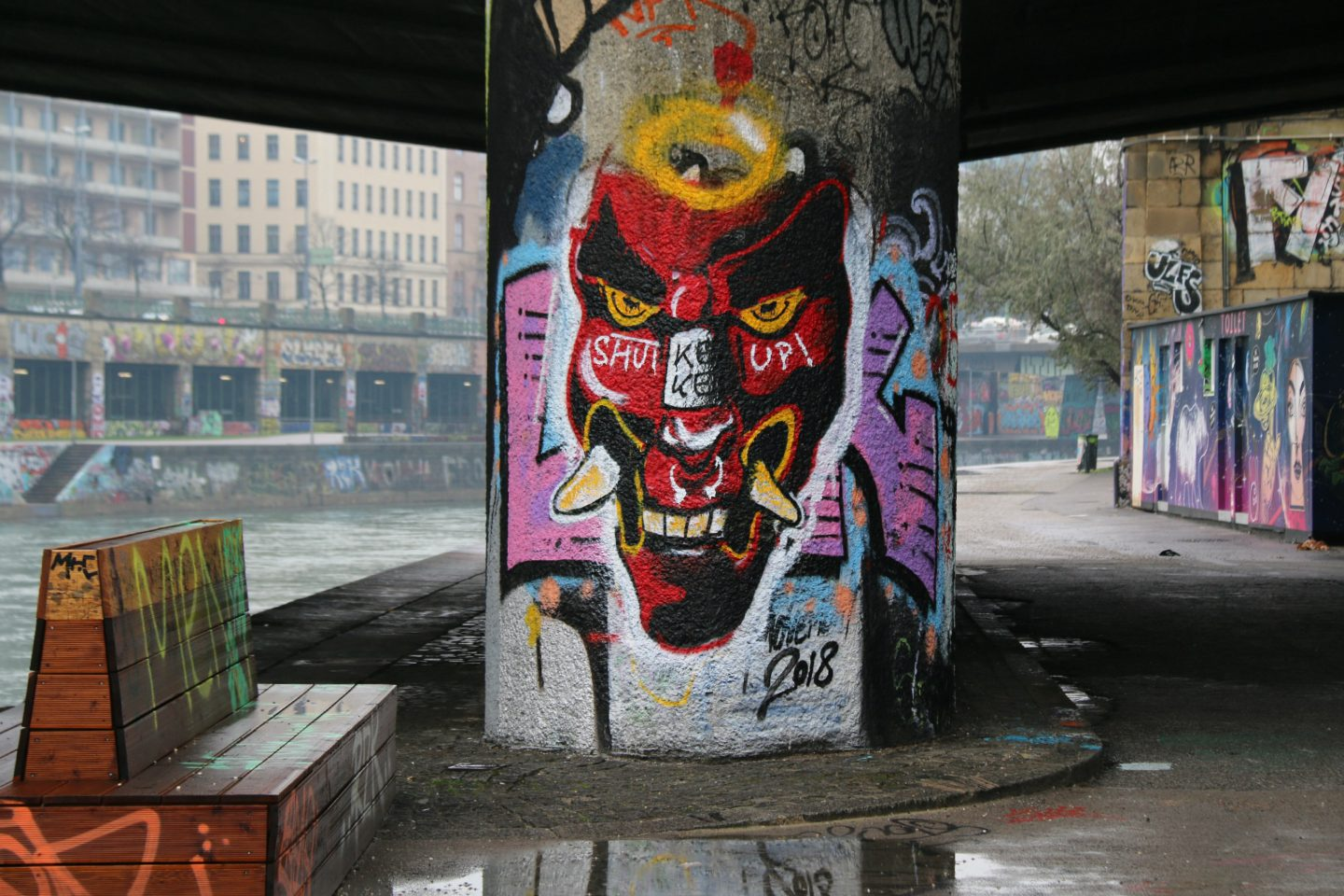 Vienna street art by the canal 16
