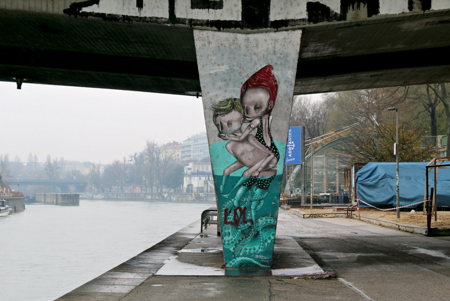 Vienna street art by the canal 19