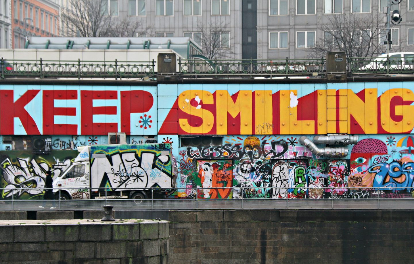 Vienna street art by the canal 23