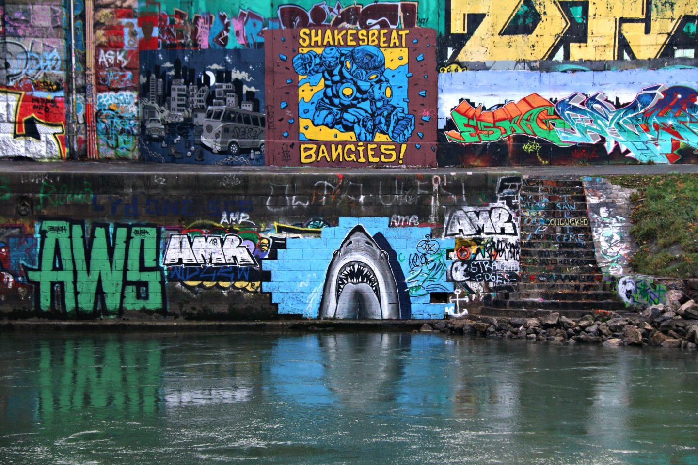 Vienna street art by the canal 26