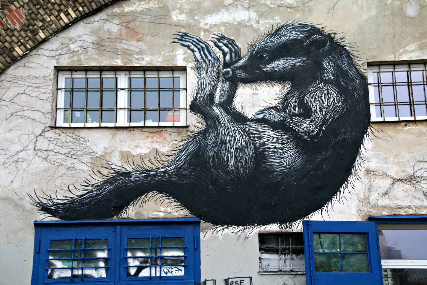 Vienna street art by the canal Roa