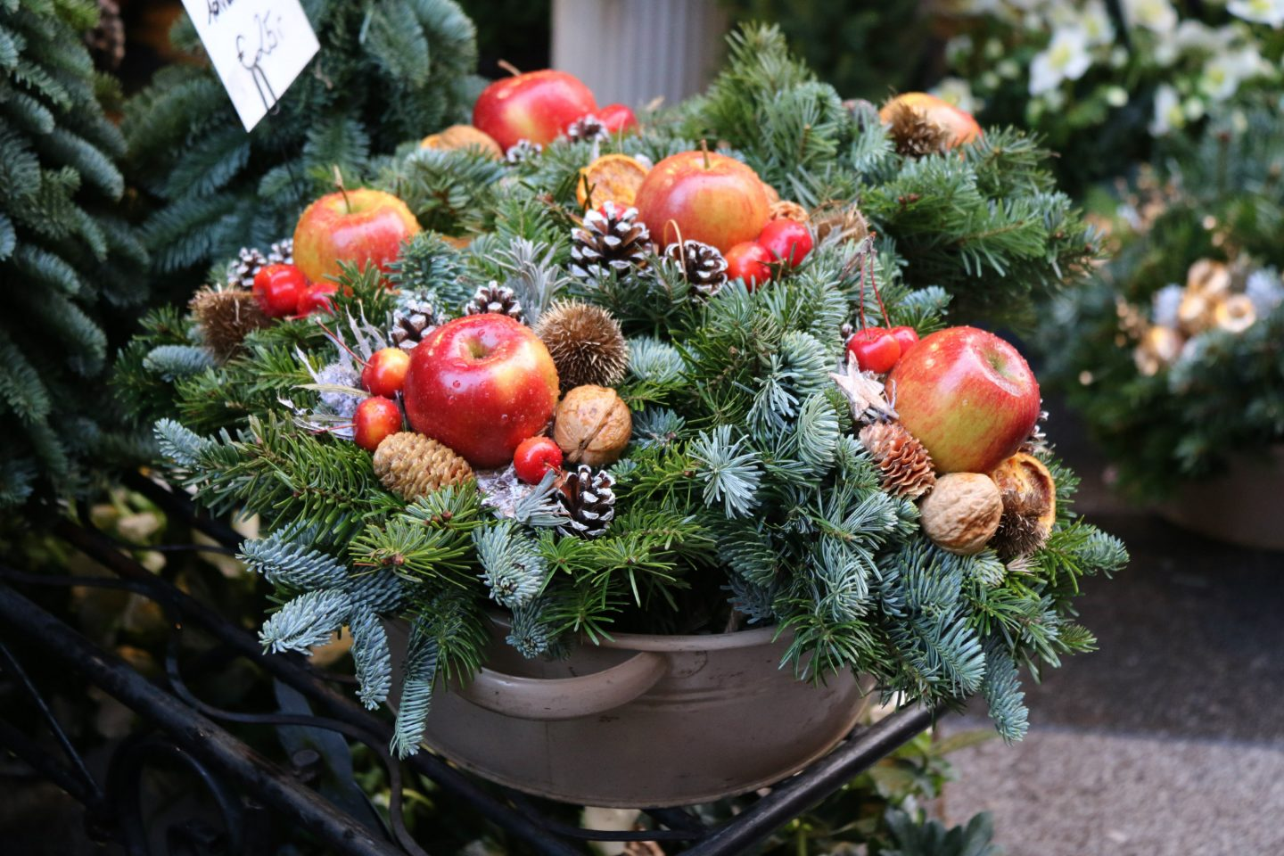 Vienna Christmas Market wreath 2