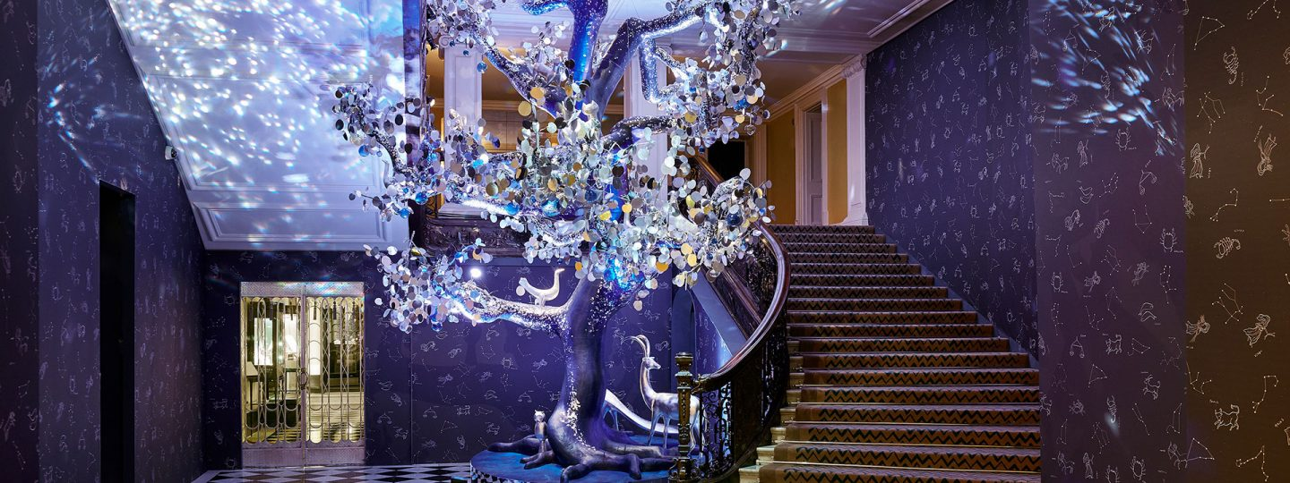 christmas tree claridge's 2018 diane von Furstenberg