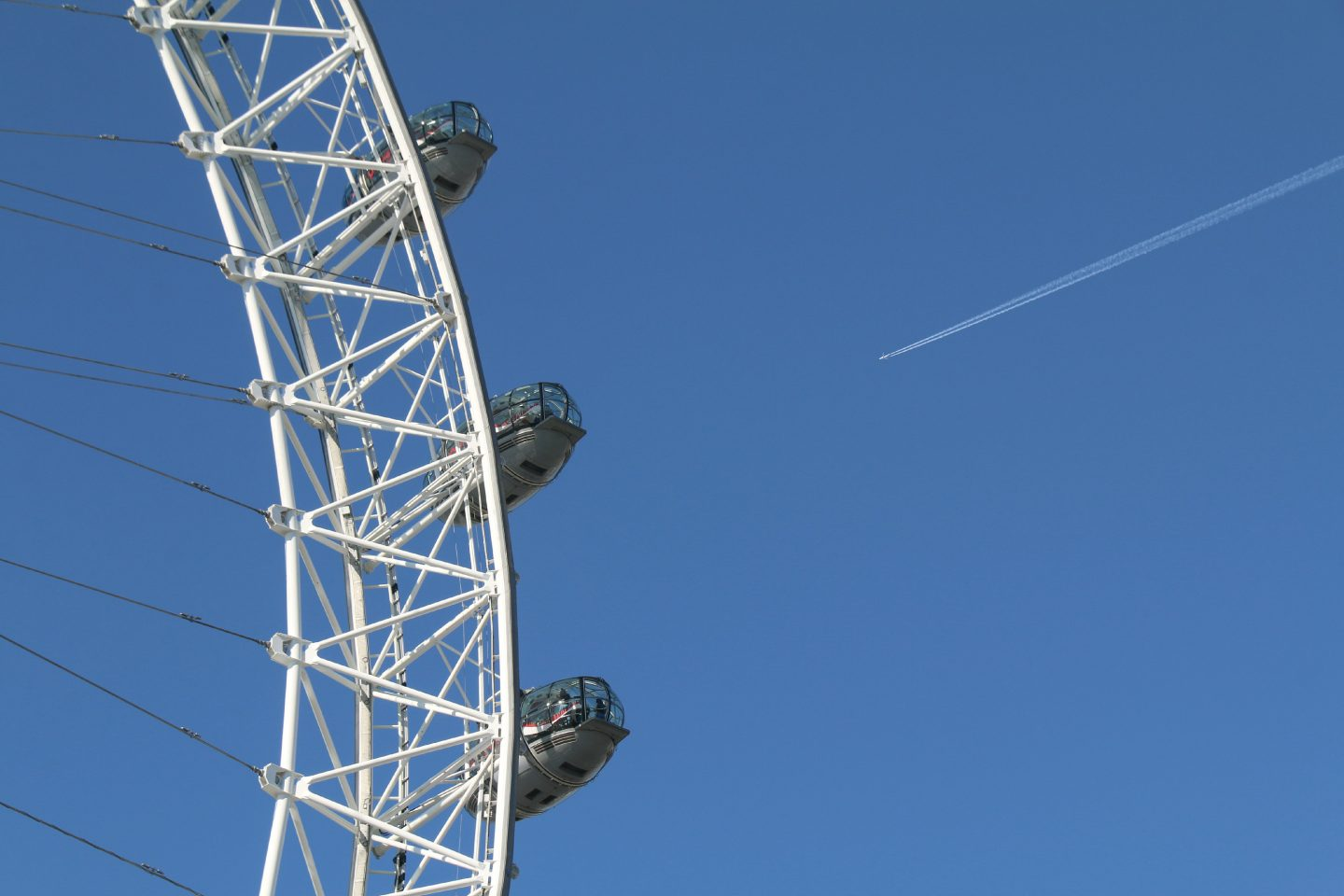 London Eye Blue sky
