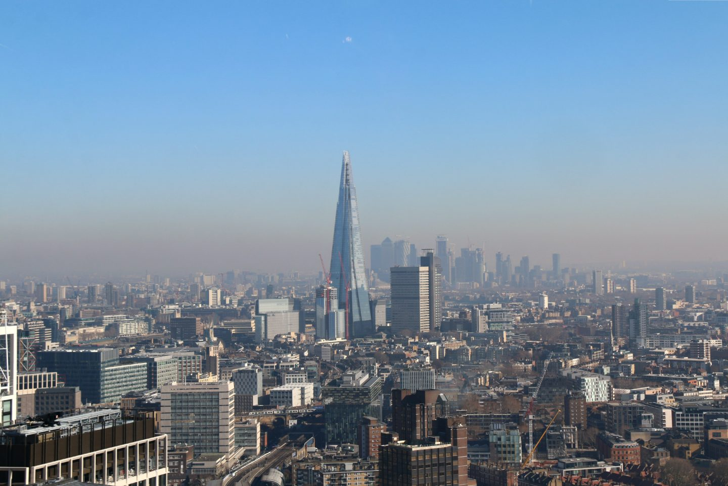 View from the top of the London Eye - The Shard