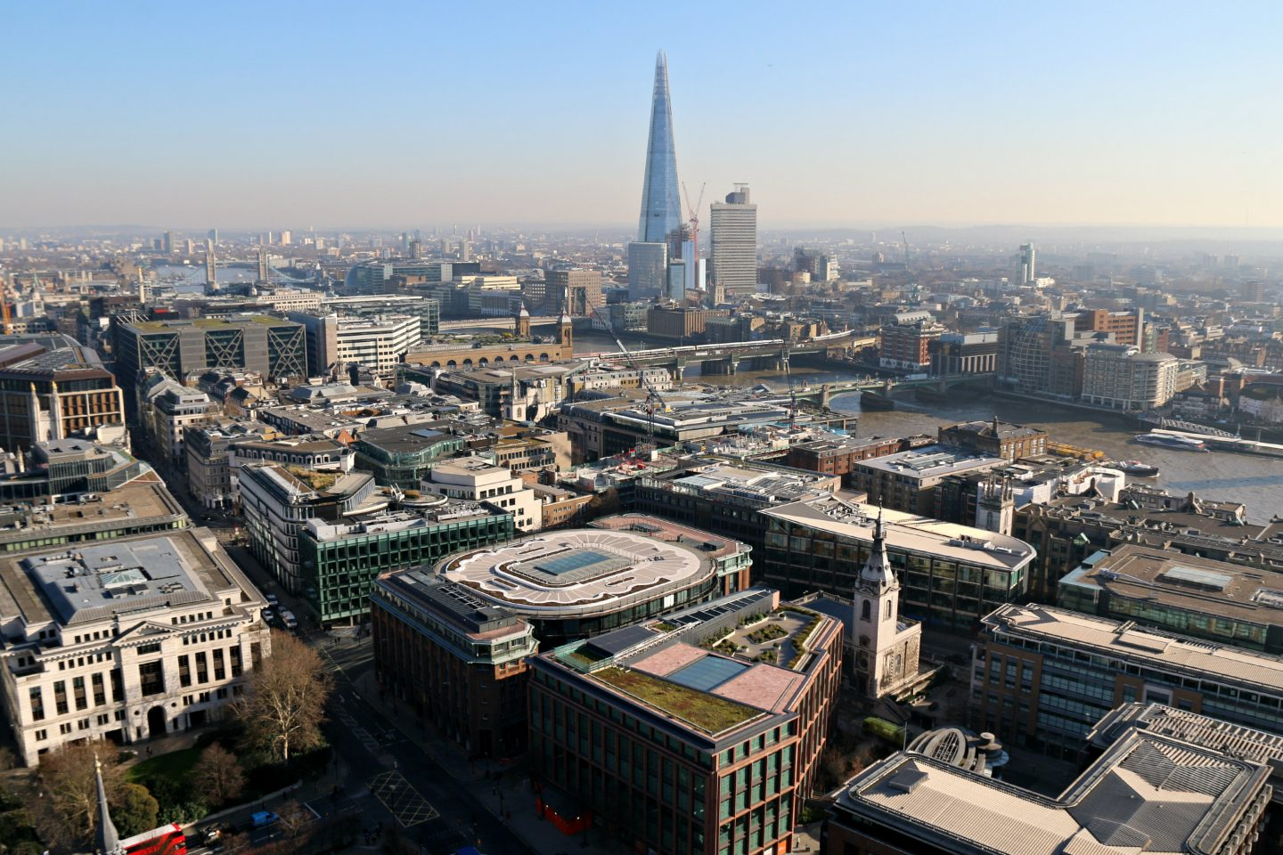 View on the Shard from Saint Paul's Cathedral