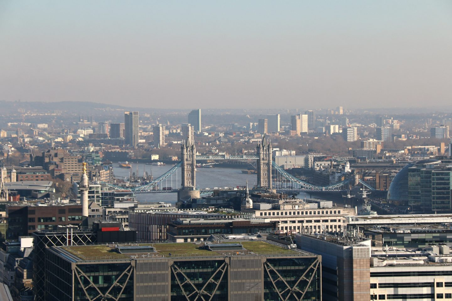 View on Tower Bridge from Saint Paul's Cathedral