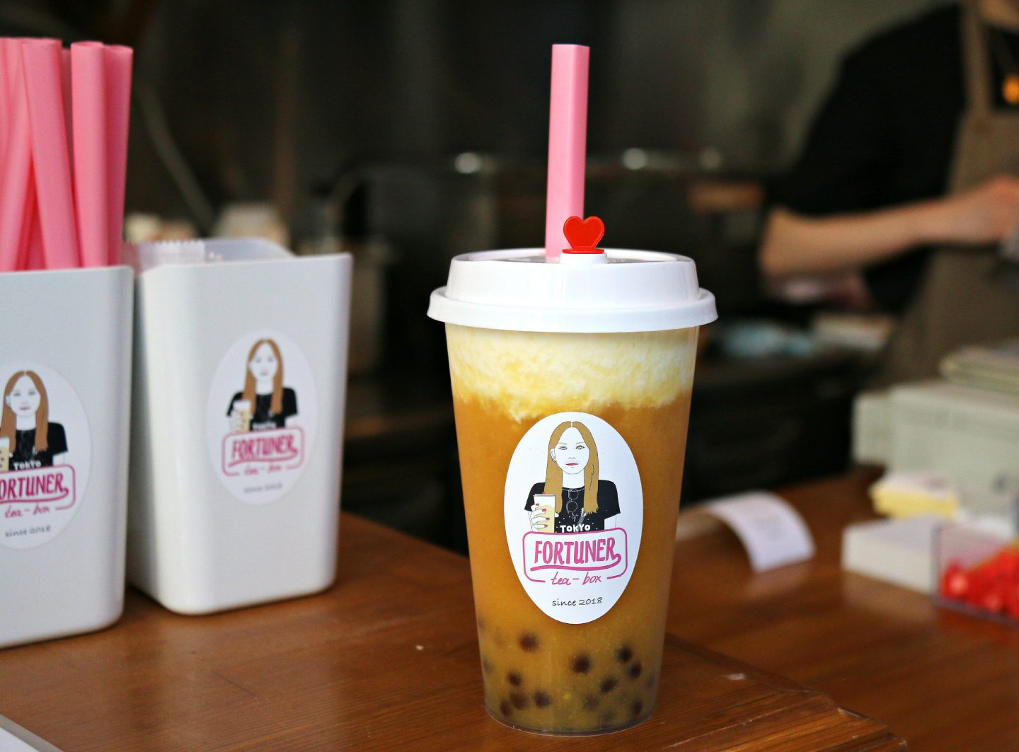 tokyo japan fortuner bubble cheese tea