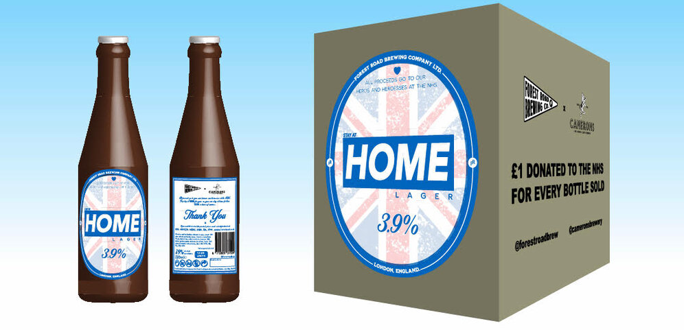 Forest Road Brewing Company stay at home ale NHS