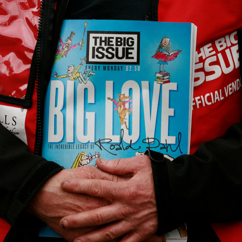 The Big Issue Coronavirus pandemic sold in tesco McColl's